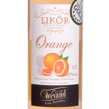 Likör Orange Brennerei Weyand